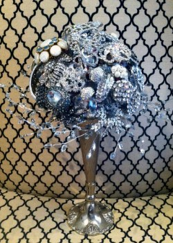 New Year's Eve Bridal Brooch Bouquet — HotHouse Design Studio in Birmingham, AL