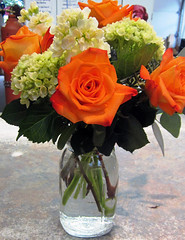 Orange and Green Flowers - Lisa Greene, AAF, AIFD, PFCI