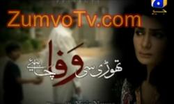 Thori Si Wafa Chahiye Episode 14 Full by Geo Tv Aired on 25th November 2016