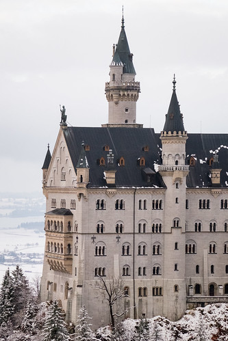 Close up of Neuschwanstein Castle