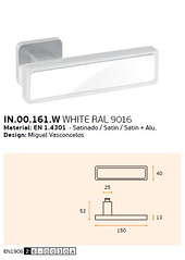 IN.00.161.W WHITE RAL 9016