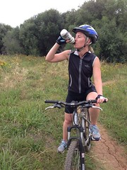 Rehydrating on Mountain Bike Ride