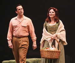 (L to R) Robert J. Townsend (Tommy Albright) and Jennifer Hope Wills (Fiona MacLaren) in Brigadoon, produced by Music Circus at the Wells Fargo Pavilion August 5-10, 2014. Photos by Charr Crail.