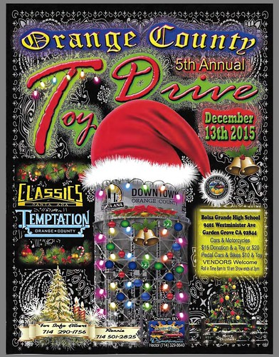 """GARDEN GROVE CA USA - """"Orange county  5th Annual Toy Drive"""" Dec 13 Sunday 10am to 3pm - Car Show - bring your family friends! DJ music , raffles , vendors too - credit: www.SoCalCarCulture.com • <a style=""""font-size:0.8em;"""" href=""""http://www.flickr.com/photos/134158884@N03/23062112324/"""" target=""""_blank"""">View on Flickr</a>"""