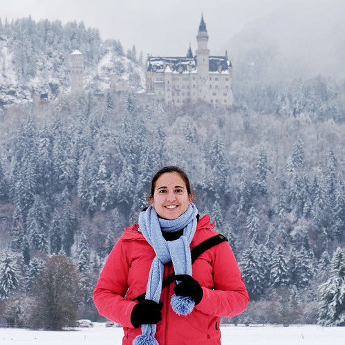 Snowy Neuschwanstein Castle in Germany