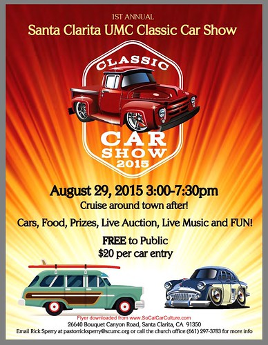 """SANTA CLARITA CA USA - """"Santa Clarita UMC classic car show"""" August 29 Saturday- 3pm to 7pm - Cruise around town afterwards -  free to the public,  live music, Live auction cars ,food and fun - Credit: www.socalcarculture.com • <a style=""""font-size:0.8em;"""" href=""""http://www.flickr.com/photos/134158884@N03/20321256493/"""" target=""""_blank"""">View on Flickr</a>"""