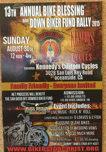 """OCEANSIDE CA USA """"Bike Blessing and Down Biker FundRaiser"""" - Aug 30 - Sun -Noon-4pm - Family Friendly Everybody http://t.co/QxMLkxqWw9 • <a style=""""font-size:0.8em;"""" href=""""http://www.flickr.com/photos/134158884@N03/20341983513/"""" target=""""_blank"""">View on Flickr</a>"""