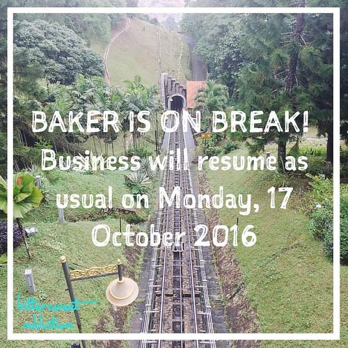 We are closed from 14-16 October and will be back on 17 October onwards 😊 #bakeronbreak #holidays #vendorkb #vendorkelantan #vendorkelantanwanted #boutiquecafe #kelantanfood #kelantanvendor #vendorwanted #premiumbakes #openorder #kek #kekharijadi #k