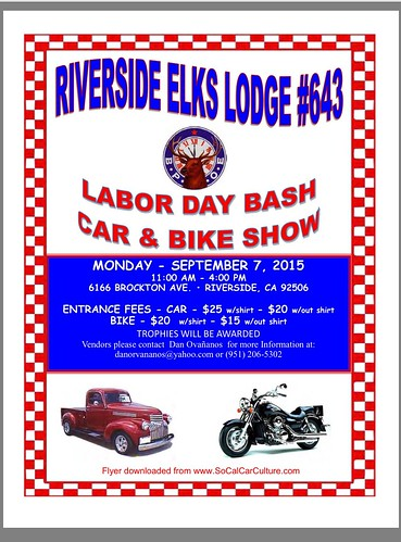 "RIVERSIDE CA USA - ""Labor Day Bash Car and Bike Show"" September 7 Monday 11 AM to 4pm - vendors - www.SoCalCarCulture.com • <a style=""font-size:0.8em;"" href=""http://www.flickr.com/photos/134158884@N03/21139358545/"" target=""_blank"">View on Flickr</a>"
