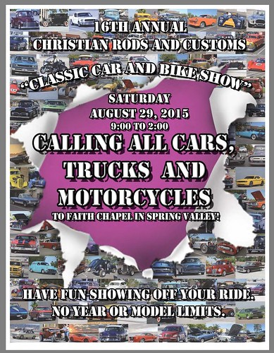 """Spring Valley California USA - """"16th Annual Christian Rods and Customs classic car and bike show"""" Saturday, August 29 9 AM to 2 PM - calling all cars, trucks, motorcycle. - credit www.SoCalCarCulture.com • <a style=""""font-size:0.8em;"""" href=""""http://www.flickr.com/photos/134158884@N03/20953921715/"""" target=""""_blank"""">View on Flickr</a>"""