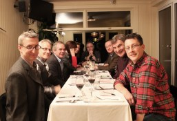 The CCC judges from across the country sequestered at a table at the El Dorado during the wine pairing competition