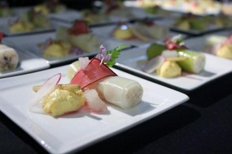 Andrea Carlson #cookingforacause dung crab creme fraich custard elderflower ice