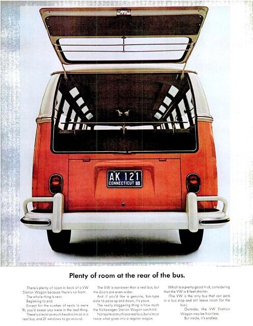 VW BUS AD LIFE MAG FEB 21, 1964