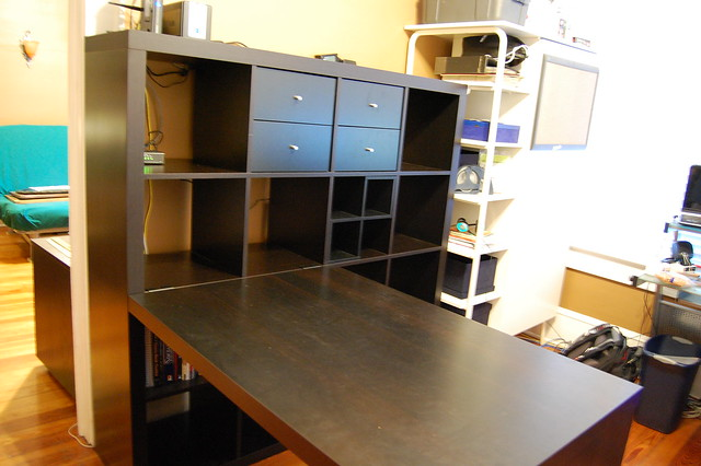 Ikea Expedit Bookcase Desk Flickr Photo Sharing