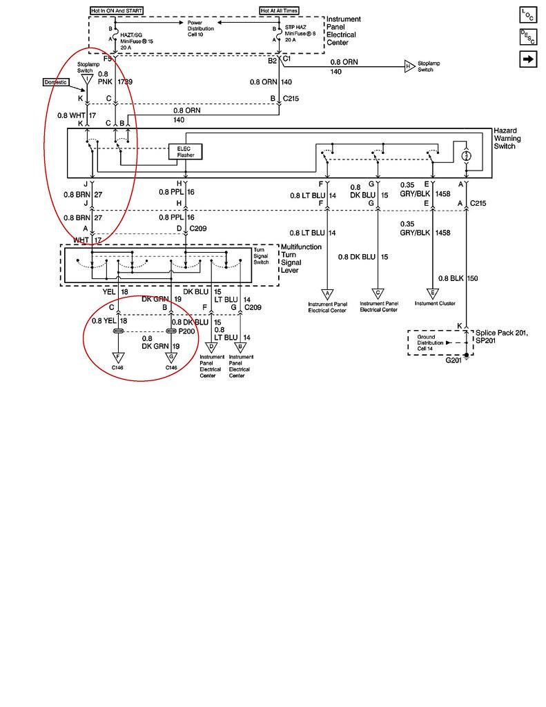 c6 corvette tail light ledningsdiagram