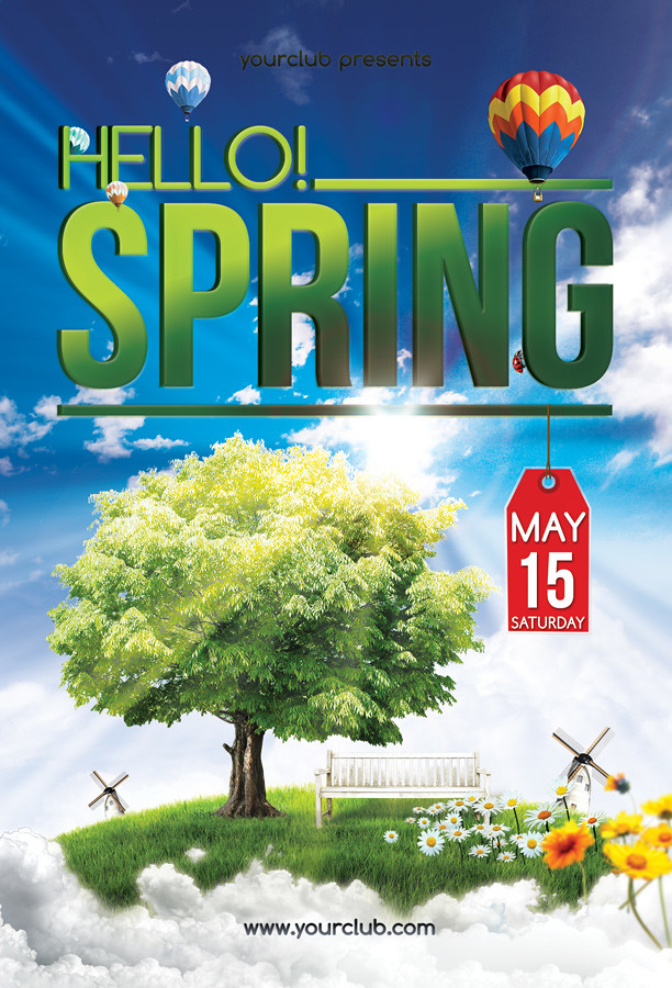 Hello! Spring - Flyer template Another nice Spring Party F\u2026 Flickr
