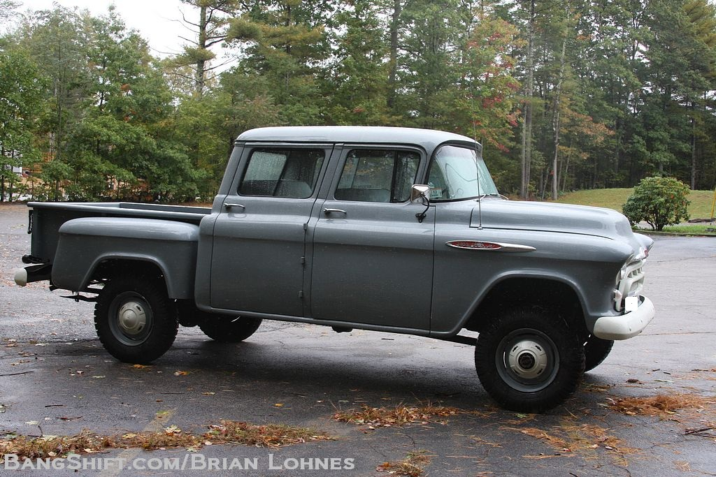The Amazo Effect 1957 Orrville NAPCO Crew Cab 4WD Chevy Truck