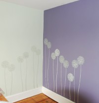 Accent wall stencils in a room. Beautiful wall stencils by ...