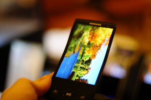 Samsung flexible AMOLED screens displayed at Pepcom