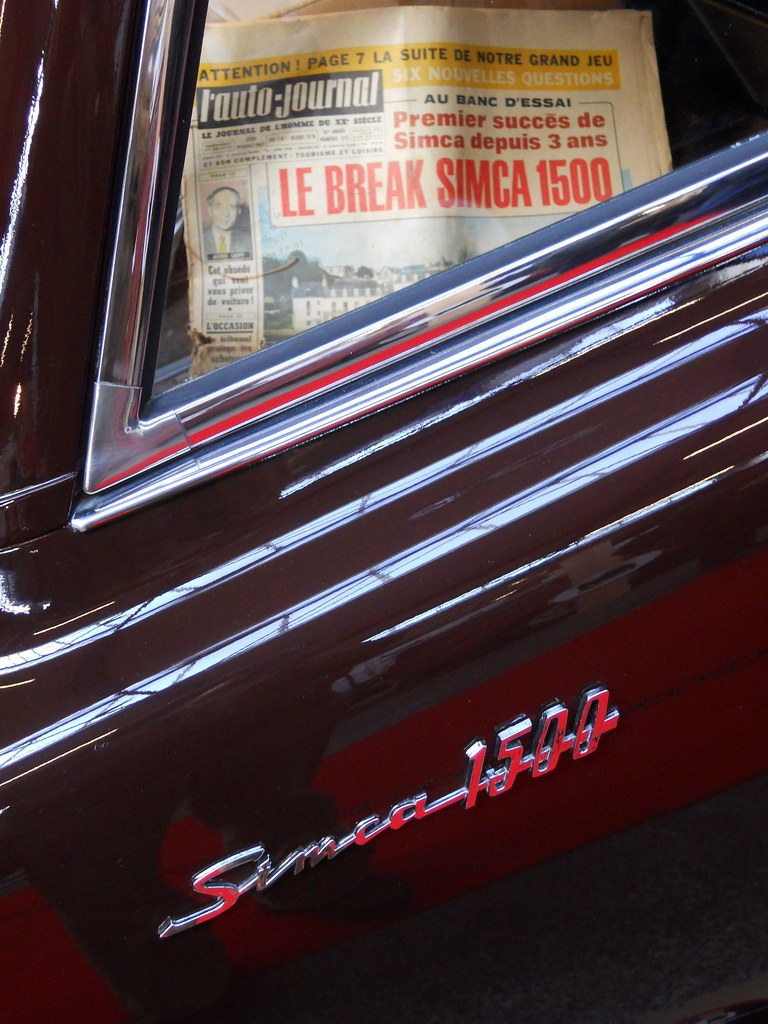 Salon Auto Reims Simca 1500 Break Badge Salon Champenois Du Véhicule De C Flickr