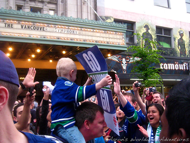 Crowds Celebrate Game 5 Victory