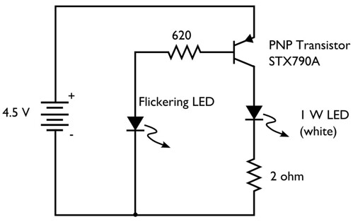 led flicker circuit