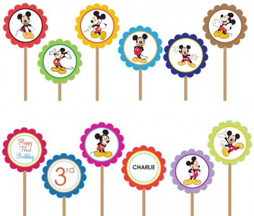 Mickey Minnie Mouse Ear Disney- Printable DIY Party Circle\u2026 Flickr