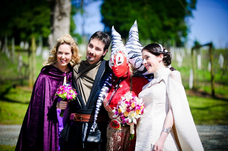 Costumes and flowers