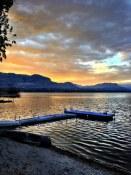 Dawn dock on Osoyoos Lake