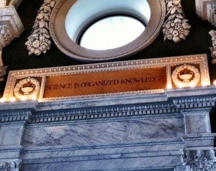 One of the wonderful quotes on the walls of The Library of Congress- February 2012