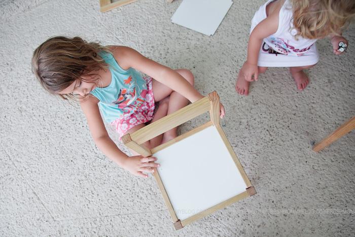 Diy Kid39s Chalkboard Table Makeover Fresh Mommy Blog