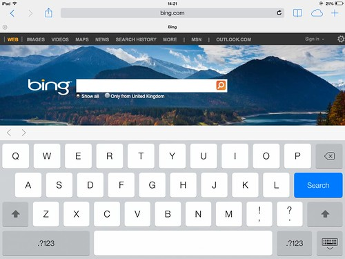 A modern look to the keyboard in iOS 7
