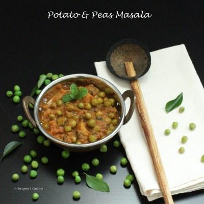 Swapna's Cuisine: Aloo Matar Masala Recipe / Potato & Peas Masala Recipe