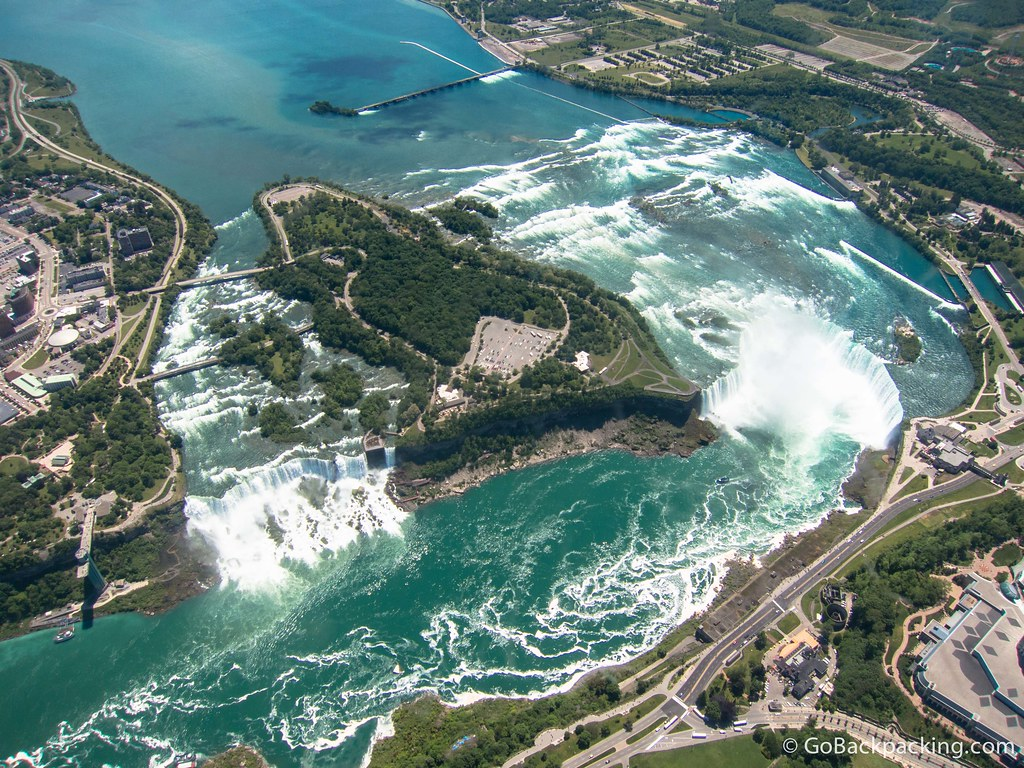 Birdseye view of Niagara Falls