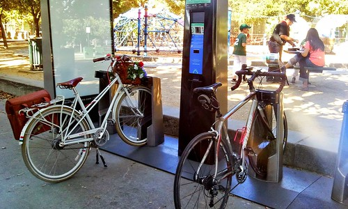 Arena Greek bike share station