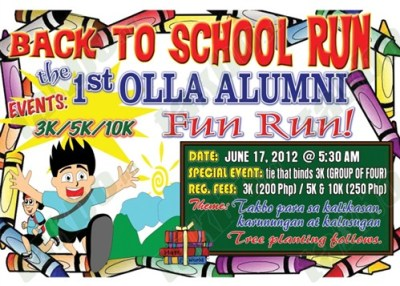 OLLA Back to School Fun Run 2012