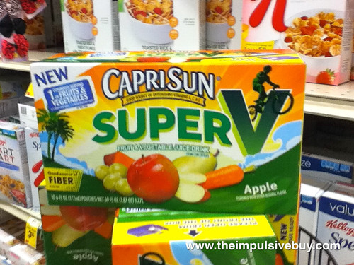 Capri Sun Super V On Shelf