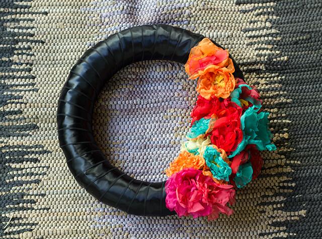 Día de Muertos Inspired Wreath