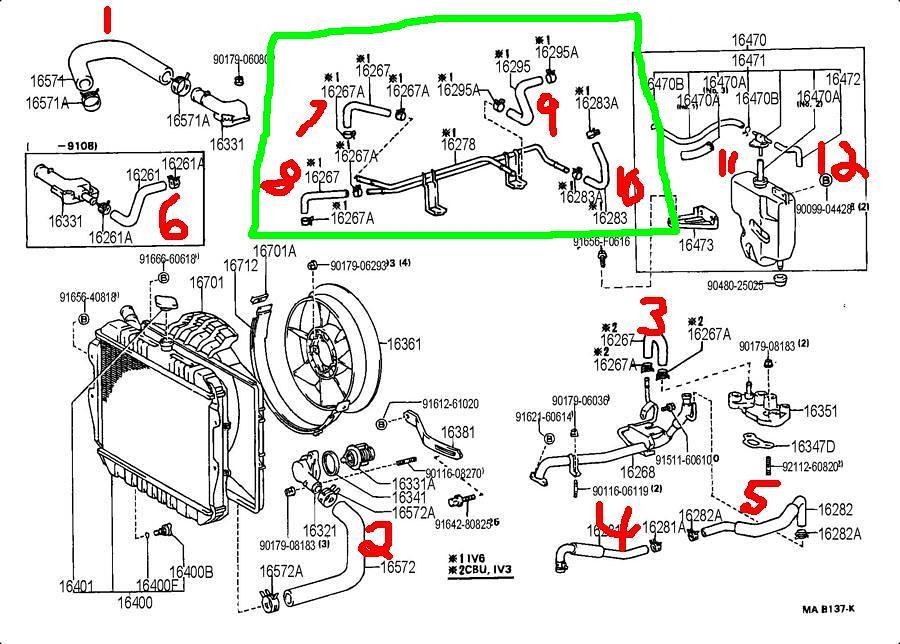 toyota 3vze engine diagram 1995 4runner