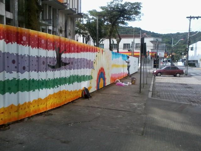 Preparando a cidade para o Festival de Dança