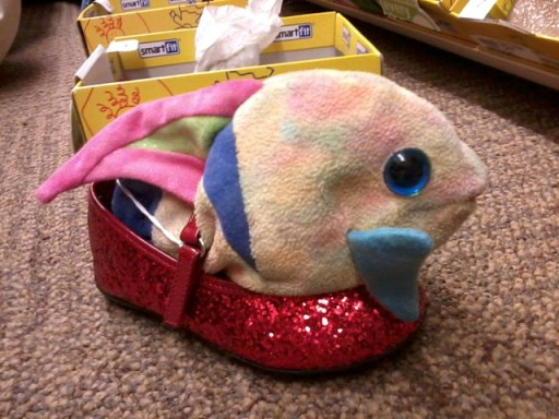 Sparkles went shoe shopping