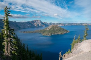 Lake to sky. Crater Lake