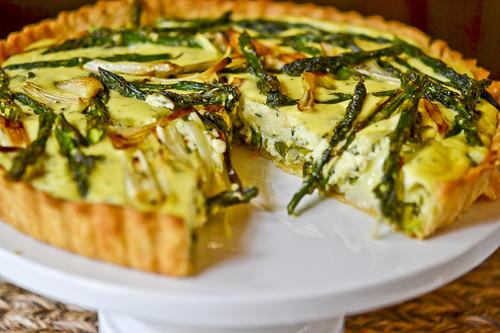 Spring Vegetable & Goat Cheese Tart 2