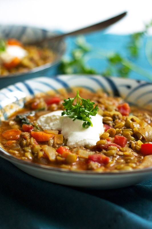 Moroccan Lentil and Beef soup