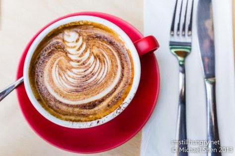 Regular latte devon cafe