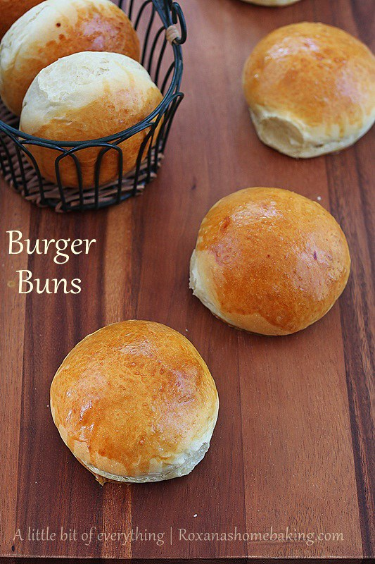 Easy to make homemade burger buns with a secret ingredient to keep them soft and fluffy longer. You will never buy burger buns from the store once you try these. Recipe from roxanashomebaking.com