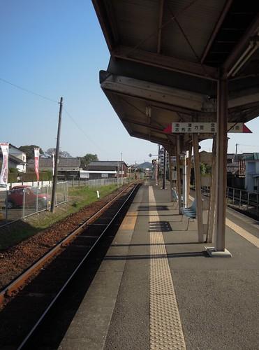 木花駅ホーム