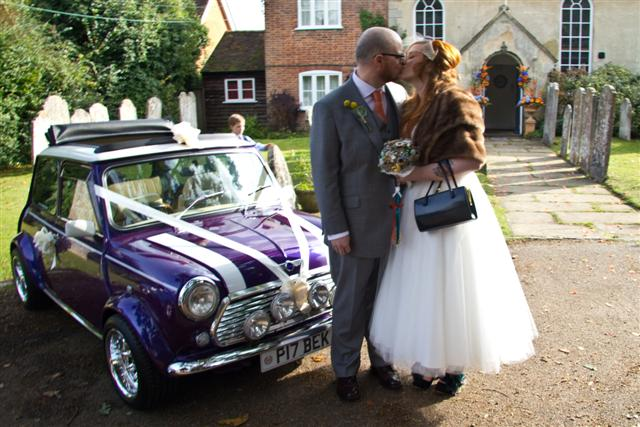 Mini wedding car