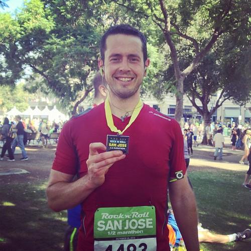 Finished! #rockandroll #halfmarathon #sanjose