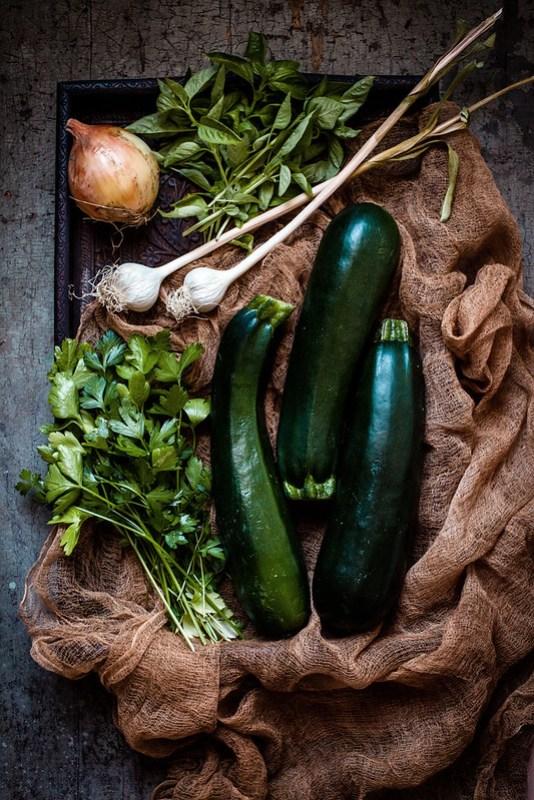 zucchini & herbs